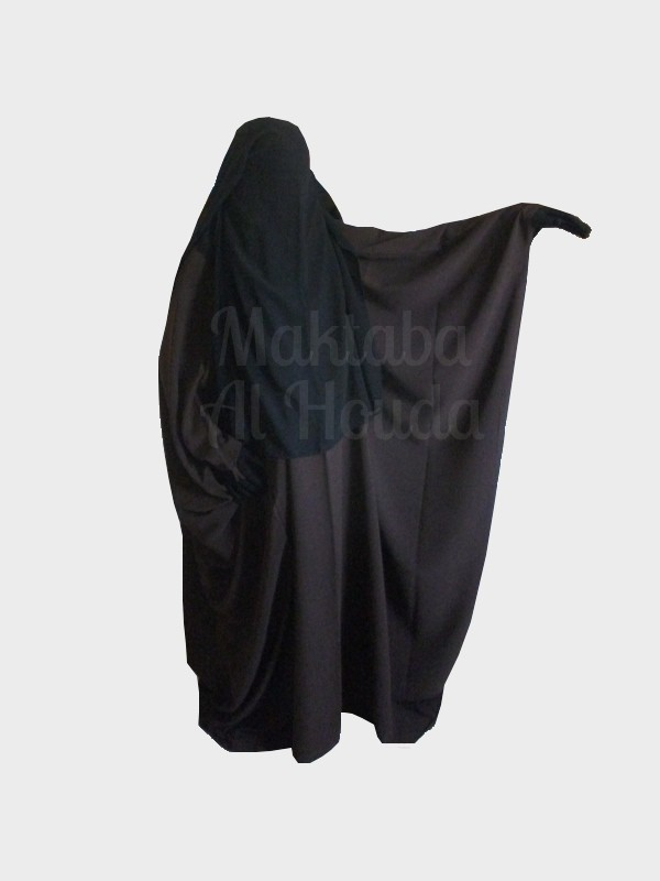 Abaya Overhead Jilbeb Saudi without navy headband