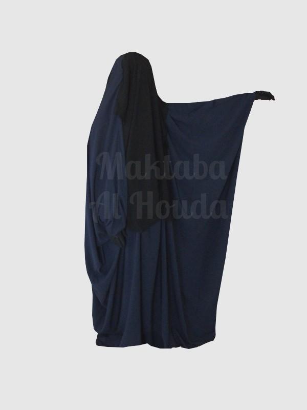 Jilbab Saoudien Umm Maryam Sitar integraed Blue (SI)