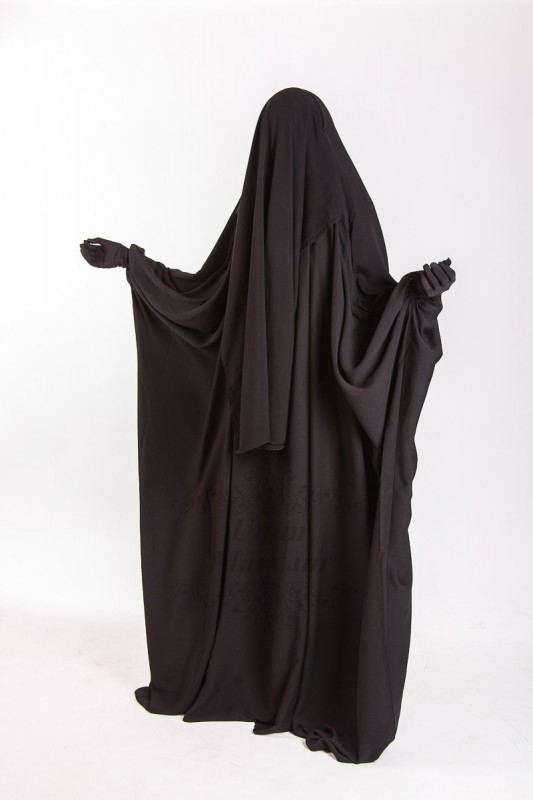 Jilbab Saoudien Umm Maryam Sitar integraed CREPE (SI)
