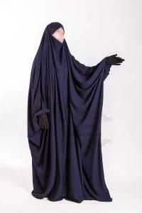 Jilbab Saudi Umm Maryam Blue CREPE (SC)