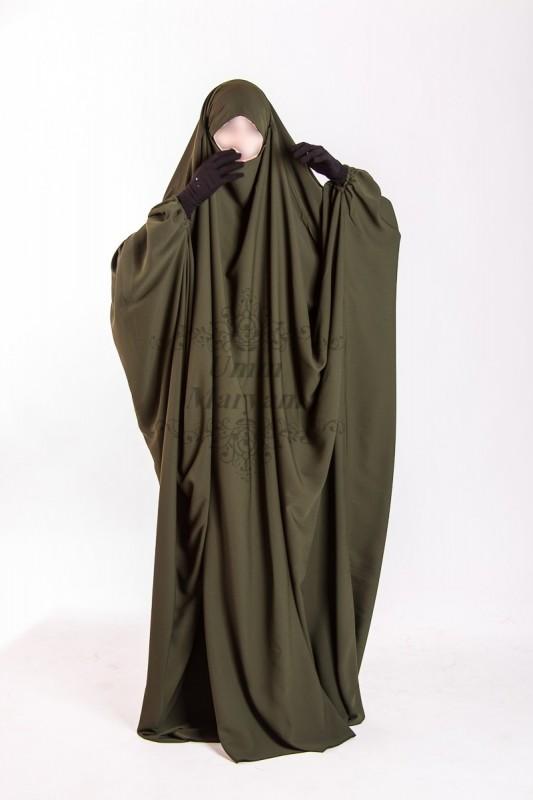 Jilbab Saudi Umm Maryam Kaki CREPE (SC)