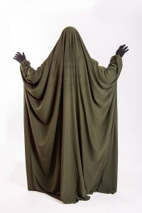 Jilbeb Saoudien Umm Maryam Kaki tissu Crêpe (SC)