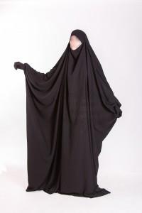 Jilbab Saudi Umm Maryam Black CREPE (SC)
