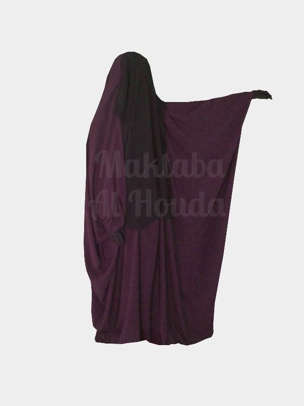 Jilbab Saoudien Umm Maryam Sitar intégré PRUNE (SI)
