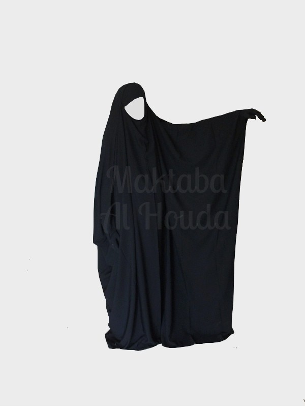 Jilbab Saudi Umm Maryam Black  ROYAL (SR)