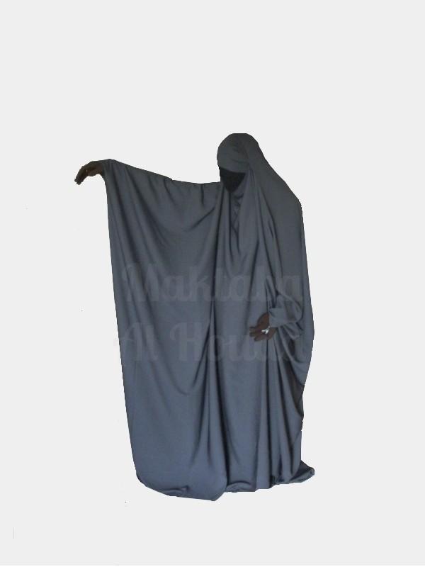 Jilbab Saoudien Umm Maryam Gris ROYAL (SR)