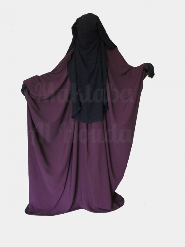 Jilbab Saudi Umm Maryam plum ROYAL (SR)