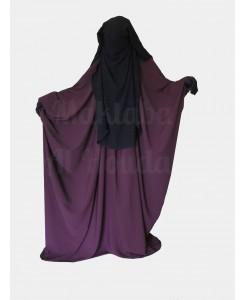 Jilbab Saudi Umm Maryam plum ROYAL (SR)