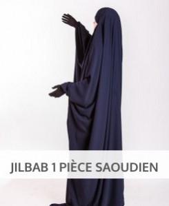 Jilbab Saoudien bandeau intégré