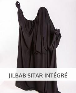 Jilbab Sitar intégré